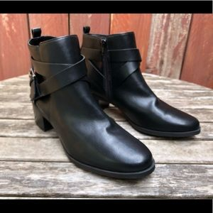Anne Klein Javen 3 Black Ankle Booties Shoes